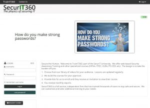 website screen cap